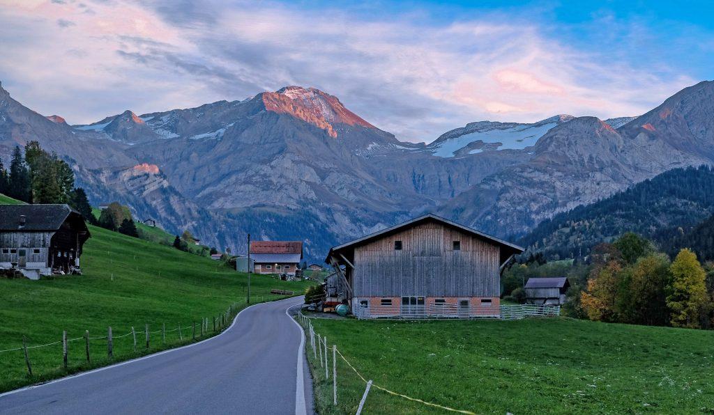 Mountain Road Saanen Switzerland