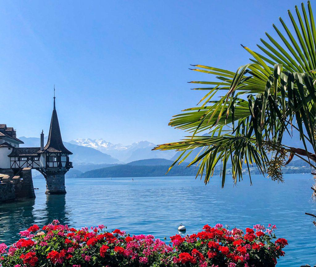 Castle Lake Thun Switzerland