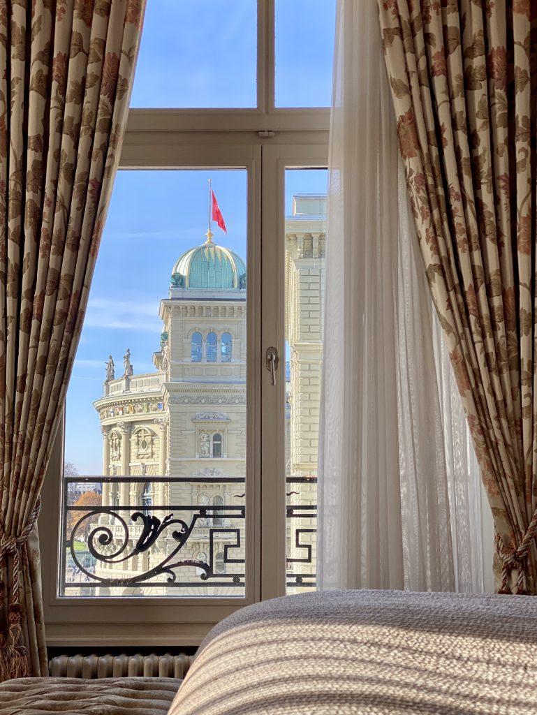 Parliament bedroom view Bern Switzerland