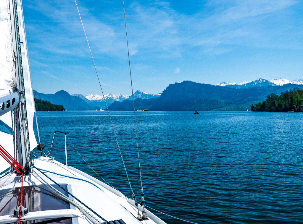 Lake Luzern Switzerland by sail boat