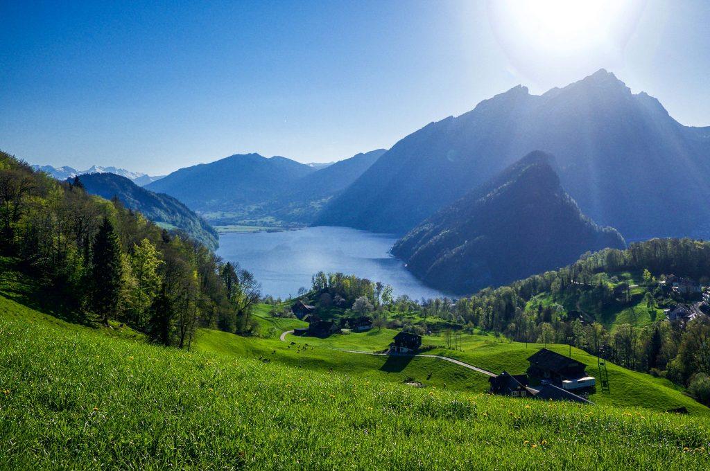 Switzerland Lake Luzern Alps