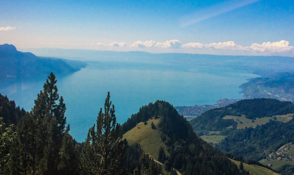 View From the Rochers de Naye Switzerland