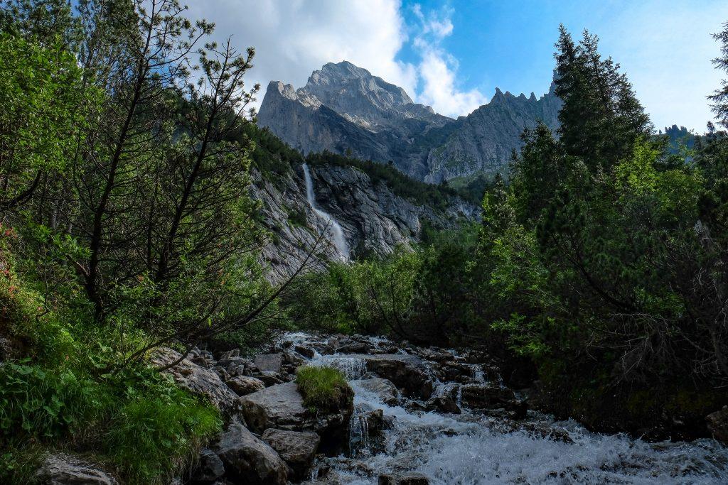 Rosenlaui Waterfall Swiss Alps Switzerland
