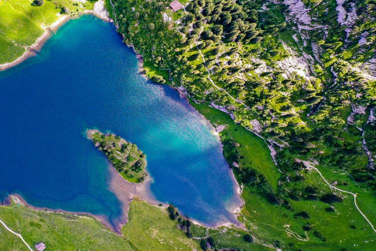 Drone Photography Stockhorn Lake Switzerland