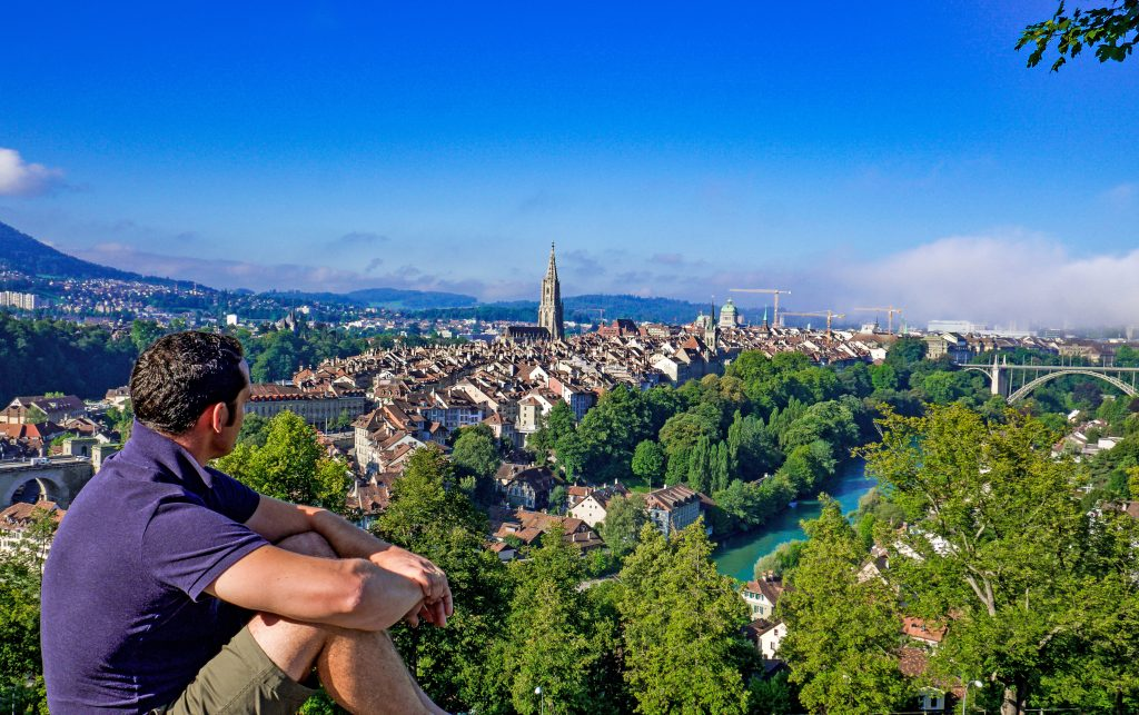 View of Bern From Above, Switzerland