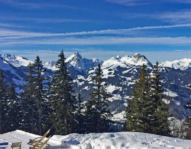 Views from the Wassengrat Restaurant, Gstaad, Switzerland
