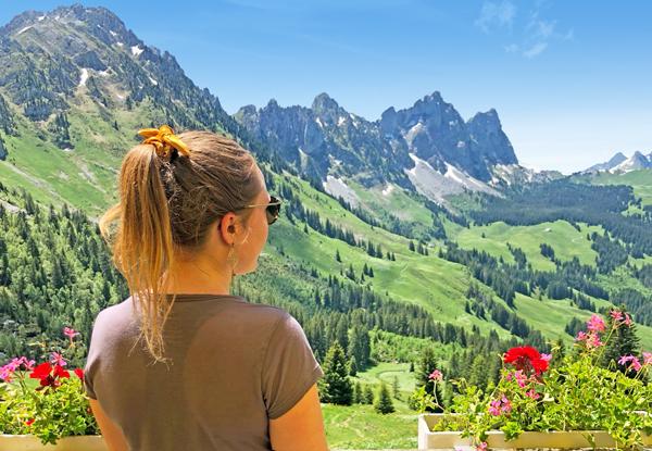 Views from the Chalet du Soldat in the Pays d'en Haut Switzerland