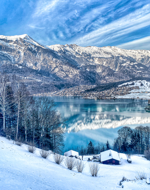 Brienz Lake Brienz Berner Oberland Swiss Alps