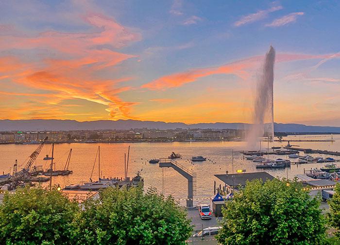 Lake Geneva Jet d'Eau Switzerland